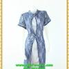 2912เสื้อผ้าคนอ้วน ชุดออกงานคนอ้วน ผ้าลูกไม้สีส้มปูบนผ้าฮานาโกะผ่านผ้าลูกไม้หรูหราสง่างาม