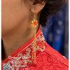 รหัส ปิ่นปักผมจีน : TR035 ขาย ต่างหู พร้อมส่ง ตุ้มหูจีน สีแดง เครื่องประดับจีน แบบโบราณ เหมาะมากสำหรับใส่ในพิธียกน้ำชา และงานแต่งงานธรรมเนียมจีน สำเนา