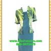 2533เสื้อผ้าคนอ้วน เสื้อผ้าแฟชั่นสีเขียวมีชุดคลุมลายวินเทจระบายคอเลิศหรูสีเข้มหรูสง่างามสวมใส่ทำงานสไตล์หรูมั่นใจ