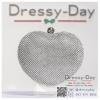 กระเป๋าออกงาน TE042 : กระเป๋าคลัชออกงานพร้อมส่ง รูปหัวใจสีเงิน ถือหรือสะพายออกงานเช้า กลางวัน กลางคืน สวยหรูและปังมาก ราคาถูกกว่าห้างเยอะ