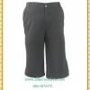 3257กางเกงคนอ้วนขานบานสี่ส่วนมีกระเป๋าทรงสวยเอวด้านหลังมียางยืดได้เอว38-42สะโพก40-44
