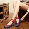 รองเท้าจีนลายดอกไม้ สียีนส์เข้ม ไซส์ใหญ่