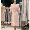 รหัส ชุดราตรี : PFS063 ชุดแซกผ้าลูกไม้งานสวย ชุดราตรีสั้นหรู สวย สง่า ดูดีแบบเจ้าหญิง ใส่เป็นชุดไปงานแต่งงาน งานกาล่าดินเนอร์ งานเลี้ยง งานพรอม งานรับกระบี่ มีแขน สีชมพู ชุดไทยประยุกต์