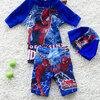 ชุดว่ายน้ำ เซ็ตสไปเดอร์ สีน้ำเงิน เสื้อ+กางเกง+หมวก