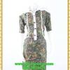 3014ชุดทํางาน เสื้อผ้าคนอ้วนปกเชิ๊ตกระดุมหน้าแขนยาวทรงเอเรียบเล่นลายปกแขนสาบ สไตล์เท่คล่องตัวกระเป๋าล้วงซ้ายขวา