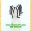 2498เสื้อผ้าคนอ้วน เสื้อผ้าแฟชั่นคอกลมตัวในมีตัวนอกคลุมทับลูกไม้น้ำตาลสไตล์หวานเรียบร้อยสุภาพเป็นทางการ