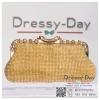 กระเป๋าออกงานพร้อ TE047 : กระเป๋าออกงานพร้อมส่ง สีทอง กระเป๋าคลัชตกแต่งเพชรทั้งใบสวยหรูมากค่ะ ใบยาวใส่ไอโฟนได้ ราคาถูกกว่าห้าง ถือออกงาน หรือ สะพายออกงาน น่ารักที่สุด