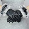 ถุงมือหนังกันหนาวทัชกรีน บุขนแกะ มี 2 สี ดำ / ชมพู