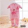 ชุดนอนเด็ก ลายเจ้าหญิง สีชมพู