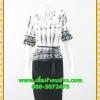 2665ชุดทํางาน เสื้อผ้าคนอ้วนผ้าเครปพิมพ์ลายข้างลำตัวโดดเด่นสะดุดตาแขนทรงระฆังคอกลมระบายรอบ สวมใส่สบายหรูหราอลังการเลือกใส่เป็นชุดออกงานเลิศหรู