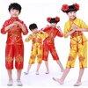 ชุดฮ่องเต้ เด็กผู้หญิงขลิบแดงสีเหลือง