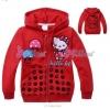 ชุดเสื้อกันหนาว คิตตี้ มีฮูด สีแดง ดอกเห็ด