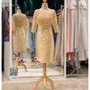 รหัส ชุดราตรี : PFS047 ชุดแซกมีแขน ชุดราตรีสั้นหรูสีทอง สวย สง่า ดูดีแบบเจ้าหญิง ใส่เป็นชุดงานเช้า ชุดไปงานแต่งงาน งานกาล่าดินเนอร์ งานเลี้ยง งานพรอม งานรับกระบี่