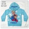 เสื้อกันหนาวแขนยาวโฟเซ่น+ฮูดปักFROZEN สีฟ้าอ่อน