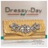 กระเป๋าออกงาน TE026: กระเป๋าออกงานพร้อมส่ง สีทอง ปักคริสตอล ราคาถูกกว่าห้าง ถือออกงาน หรือ สะพายออกงาน สวย หรู ดูดีมากค่ะ