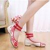 รองเท้าจีน ลายแดงสีขาวคาดข้อเท้า ไซส์ใหญ่