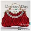 กระเป๋าออกงาน TE012: กระเป๋าออกงานพร้อมส่ง กระเป๋าคลัช วินเทจ สีแดง แบบมีหูหิ้ว ดีเทลคริสตอล มาพร้อมงานปักสุดหรู ราคาถูกกว่าห้าง ถือออกงาน หรือ สะพายออกงาน สวย หรู ดูดีเริ่ดมากค่ะ