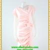2880เสื้อผ้าคนอ้วน ชุดทำงานสีชมพูสุดหวานคอวีจับเดรฟสุดปราณีตสวยงามหรูหรา น่าค้นหาเป็นที่สุด สวยและมั่นใจสไตล์ออกงาน