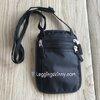 กระเป๋าซ่อนของแบบห้อยคอ RFID Blocking สีดำ