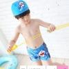 ชุดว่ายน้ำ กางเกงขาสั้นโดเรม่อน+หมวก
