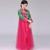 ชุดจีน เดรสฮันบก สีชมพู-เขียว