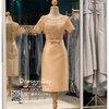 รหัส ชุดราตรี :PFS053 ชุดแซกผ้าลูกไม้งานสวยตกแต่งลูกไม้กริตเตอร์ ชุดราตรีสั้นหรูสีทอง สวย สง่า ดูดีแบบเจ้าหญิง ใส่เป็นชุดไปงานแต่งงาน งานกาล่าดินเนอร์ งานเลี้ยง งานพรอม งานรับกระบี่ ปิดหลัง