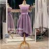 รหัส ชุดราตรีสั้น :BB140 มีชุดราตรีสวย ชุดไปงานแต่งสั้น เหมาะใส่งานหมั้น งานเช้า หรู พร้อมส่งเยอะสุดในไทย เนื้อผ้าพรีเมี่ยม คัตติ้งเนี๊ยบๆ สีม่วง หน้าสั้นหลังยาว