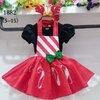 เดรสคริสมาสต์ สีแดง-ดำ