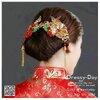 รหัส ปิ่นปักผมจีน : TR009 ขาย ปิ่นปักผมจีน พร้อมส่ง สีทอง เครื่องประดับผมจีน แบบโบราณ เหมาะมากสำหรับใส่ในพิธียกน้ำชา และงานแต่งงานธรรมเนียมจีน