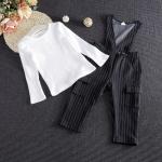 เซ็ตเสื้อแขนยาวสีขาว+เอี้ยมขายาว