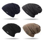หมวกไหมพรมกันหนาวบุขนแกะ มี 4 สี