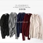 เสื้อไหมพรมผู้ชาย สไตล์ญี่ปุ่น Muji มี 5 สี