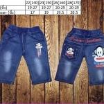 ชุดเด็ก : กางเกงยีนส์นิ่ม สี่ส่วน ลายลิง