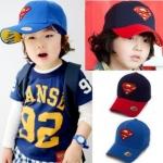 หมวกเด็ก ซุปเปอร์แมน สีกรม