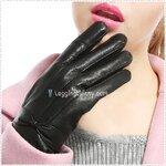 ถุงมือกันหนาว ถุงมือหนังบุขนแกะ มี 2 สี ดำ / น้ำตาล