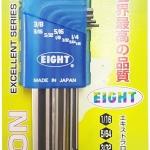 EIGHT LHS-9ZD ชุดประแจหกเหลี่ยมยาว หัวเรียบตรง 9ตัวชุด (1/16 - 3/8 นิ้ว) จากญี่ปุ่นแท้