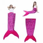 ผ้าห่มหางนางเงือก สีชมพูม่วง