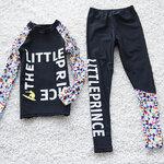 ชุดว่ายน้ำ เซ็ตเสื้อแขนยาว+กางเกงขายาวหลากสี สีดำ