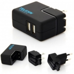 TELESIN Double USB Port 2 USB Ports Wall Charger w/ USB Cable Universal