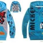 กันหนาว : เสื้อกันหนาวมิ๊กกี้เมาส์ สีฟ้า