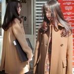 เสื้อโค้ทเกาหลี ผ้าวูลหนา มี 2 สี