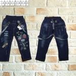 ชุดเด็ก : กางเกงยีนส์ สายเอี้ยม ลายมิ๊กกี้