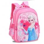 กระเป๋าเป้ลายเอลซ่า ลายนูน 3 มิติ สีชมพู