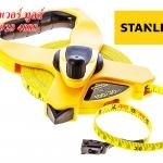 STANLEY 34-794 เทปวัดระยะ สายไฟเบอร์กลาส 60ม. (200ฟุต) แบบเปลือย