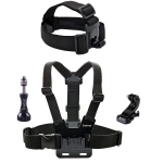 คาดหัว + คาดอก Smatree Chest Belt Strap Mount with J-Hook for GoPro Session, Hero 5,4 ,3+, 3, 2, 1 (Head Strap+Chest Mount)