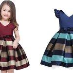 ชุดเด็ก : ชุดออกงาน ผ้าเงา สีกรม,สีเลือดหมู