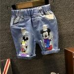ชุดเด็ก : กางเกงยีนส์ สามส่วน มิ๊กกี้เมาส์ สำเนา