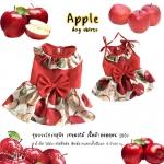 เสื้อผ้าสุนัข ชุดกระโปรงสุนัข เซทผลไม้ ลายแอปเปิ้ล