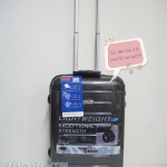 กระเป๋าเดินทาง 100%PC Flying master 3037 ขนาด 21 นิ้ว สีดำเคฟล่า ส่งฟรี