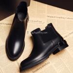 รองเท้าบูทหนังสั้น ส้นเตี้ย Leather Short Boot (Size 37)
